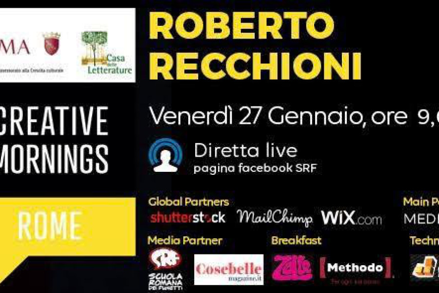Creative Mornings: incontro con Roberto Recchioni