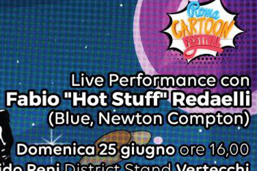 La SRF @ ROMA CARTOON FESTIVAL – Live Performance con FABIO REDAELLI